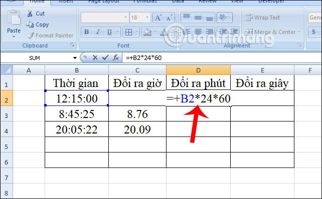 Cách chuyển đổi thời gian trong Excel - Ảnh minh hoạ 7
