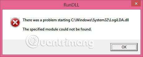 Cách khắc phục thông báo lỗi LogiLDA.dll trong Windows