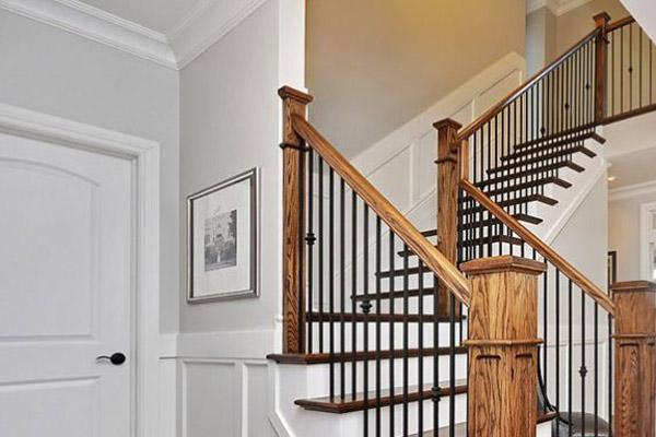 Cầu thang gỗ đơn giản, đẹp 7