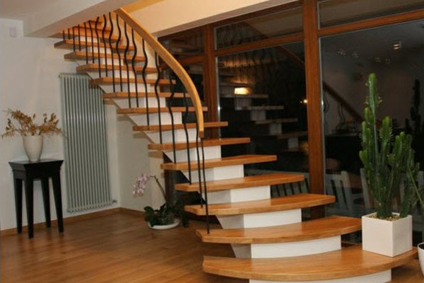 Cầu thang gỗ đơn giản, đẹp 11