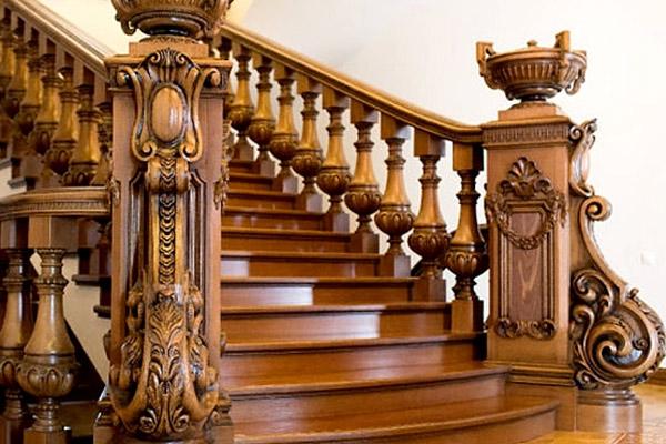 Cầu thang gỗ đẹp 2