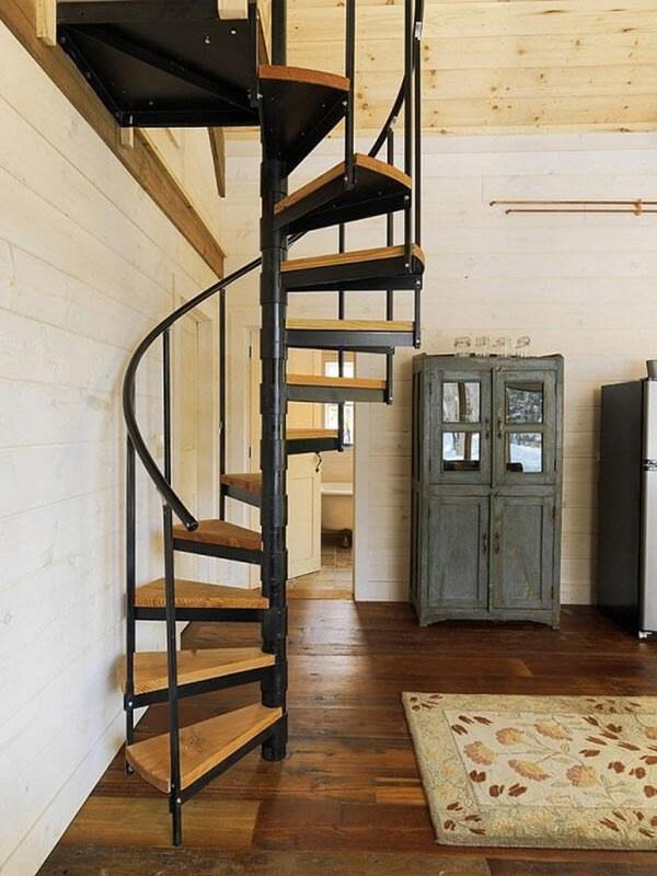 Cầu thang gỗ xoắn ốc 3