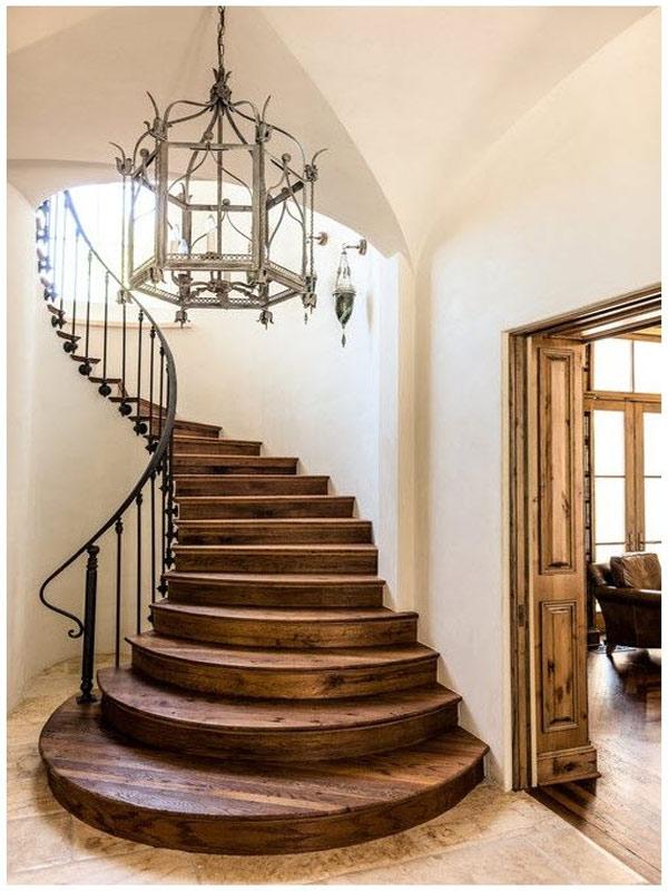 Cầu thang gỗ xoắn ốc 9