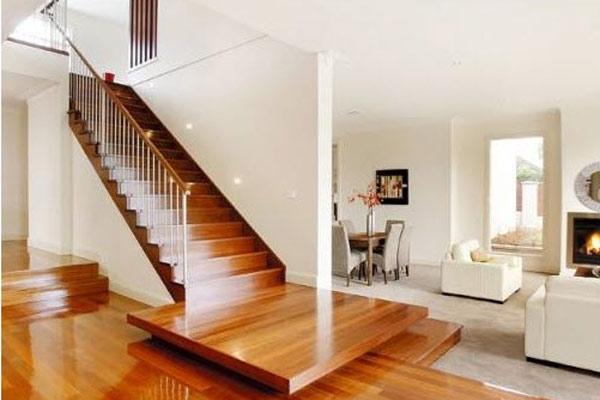 Cầu thang gỗ đơn giản, đẹp 16