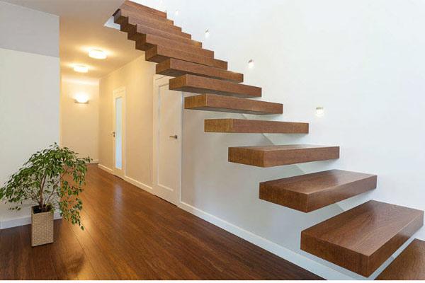 Cầu thang gỗ đơn giản, đẹp 12