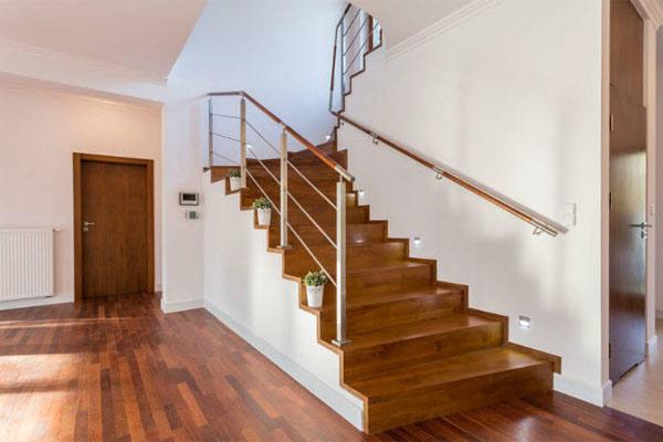 Cầu thang gỗ đơn giản, đẹp 20