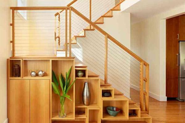 Cầu thang gỗ đơn giản, đẹp 4