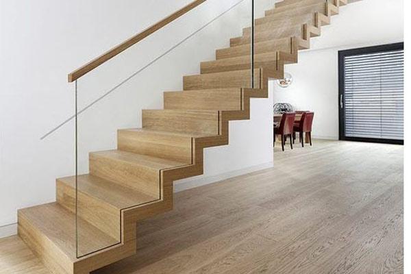 Cầu thang gỗ đơn giản, đẹp 18