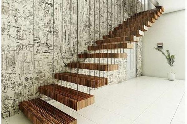 Cầu thang gỗ đơn giản, đẹp 13