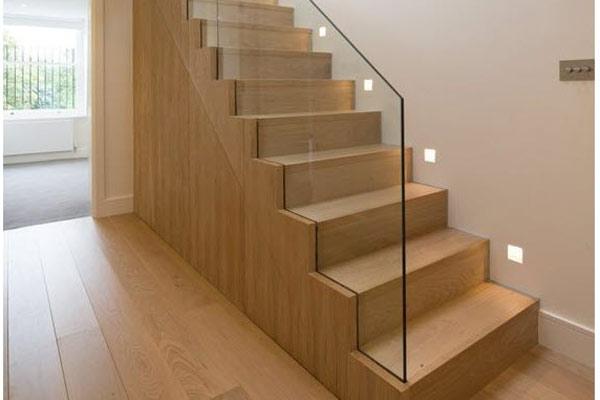 Cầu thang gỗ đơn giản, đẹp 21