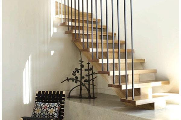 Cầu thang gỗ đơn giản, đẹp 17