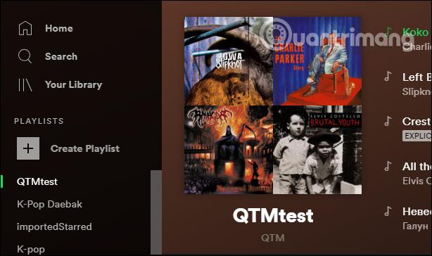 Playlist trên Spotify