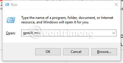 Để vô hiệu hóa service, trên cửa sổ Run, gõ gpedit.msc và nhấn Enter