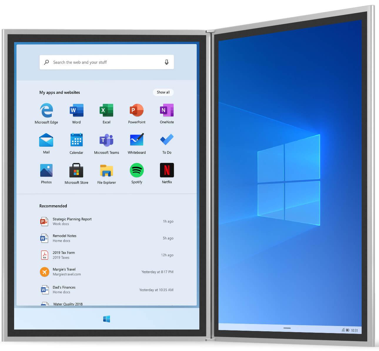 Windows 10X không còn Live Tile