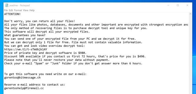 Cách xóa ransomware tạo file đuôi .boot