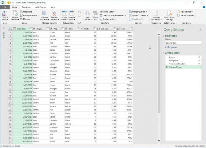 Lý do sử dụng Microsoft Power Query cho Excel