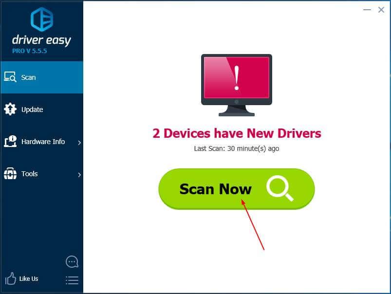 Nhấp vào Scan Now để tìm lỗi và driver bị thiếu trên thiết bị