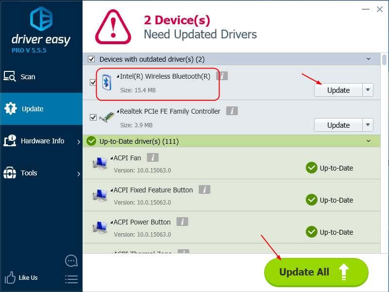 Phần mềm sẽ tự động tải xuống và cài đặt phiên bản chính xác của driver