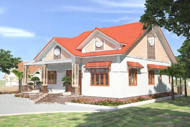 Mẫu nhà cấp 4 gồm 3 phòng ngủ kiểu nhà vườn sang trọng