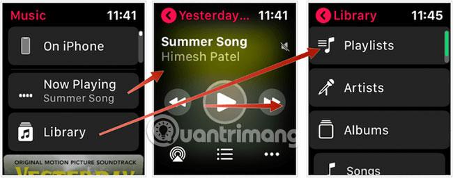 Nghe nhạc trên Apple Watch