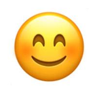 Khuôn mặt cười với đôi mắt biết cười