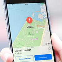 Cách nhìn xung quanh trong ứng dụng Bản đồ iPhone