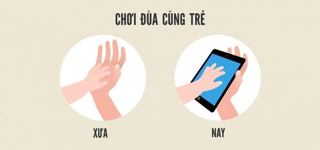 Trong thời đại công nghệ số, những đứa trẻ giờ đây được màn hình iPad sưởi ấm thay vì được bàn tay bố mẹ vỗ về