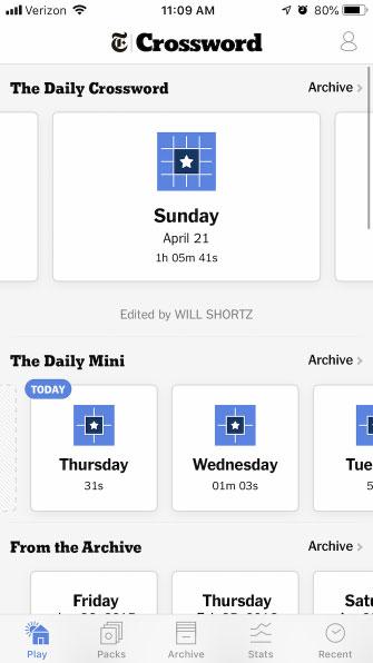 New York Times Crossword, do Will Shortz chỉnh sửa, là tiêu chuẩn vàng cho các câu đố hàng ngày