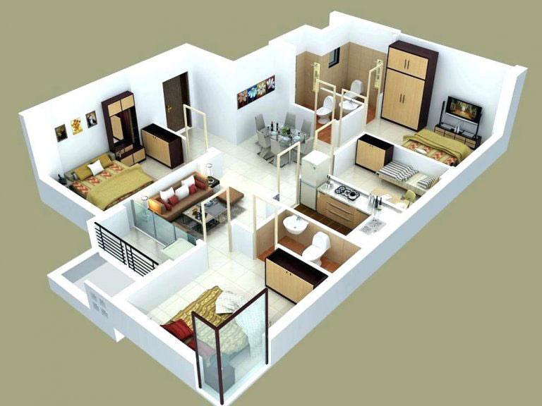 Bản vẽ mẫu nhà cấp 4 mái thái 4 phòng ngủ với diện tích 100m2