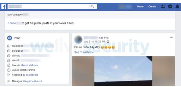 ESET đã lần ra Facebook của sinh viên Việt Nam đã đăng tải các ứng dụng chứa adware.