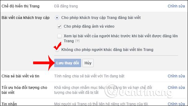 Hướng dẫn chặn đăng bài lên Fanpage Facebook - Ảnh minh hoạ 3