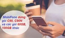 Mobifone ngừng cung cấp các gói data khủng C90, C90N...