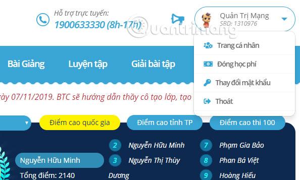 Đăng nhập tài khoản Trạng Nguyên Tiếng Việt