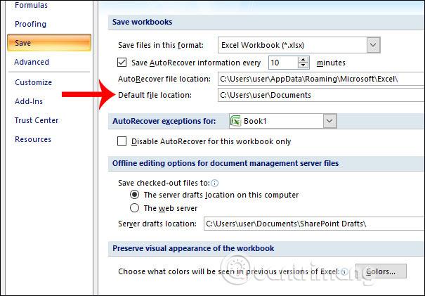 Cách đổi thư mục lưu file Excel mặc định - Ảnh minh hoạ 3