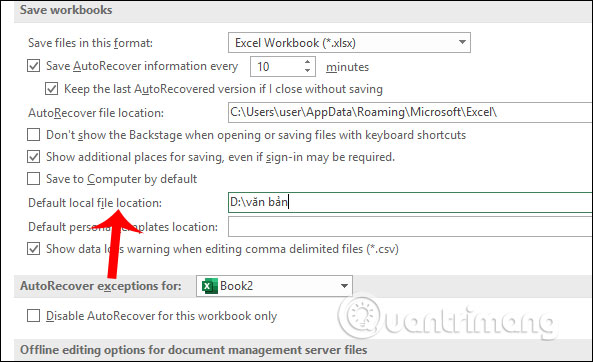 Cách đổi thư mục lưu file Excel mặc định - Ảnh minh hoạ 6