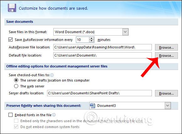 Cách đổi thư mục lưu file Word mặc định - Ảnh minh hoạ 3