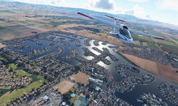 Flight Simulator tái hiện lại toàn bộ bề mặt trái đất