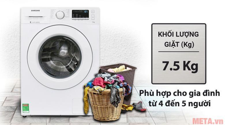 máy giặt cửa ngang samsung ww75j42g0kw 7-5kg