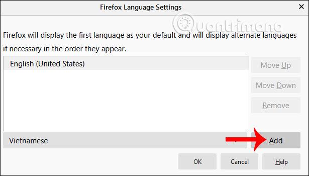 Thêm ngôn ngữ mới