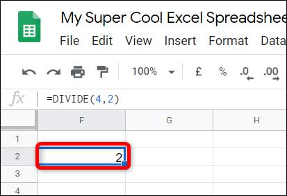 Cách chia số trong Google Sheets - Ảnh minh hoạ 3