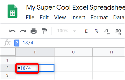 Cách chia số trong Google Sheets - Ảnh minh hoạ 4