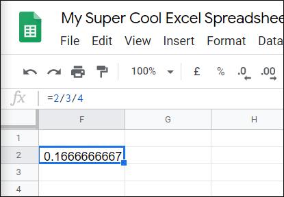 Cách chia số trong Google Sheets - Ảnh minh hoạ 6
