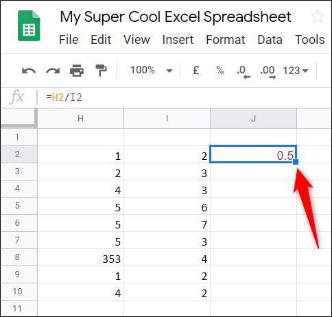Cách chia số trong Google Sheets - Ảnh minh hoạ 7