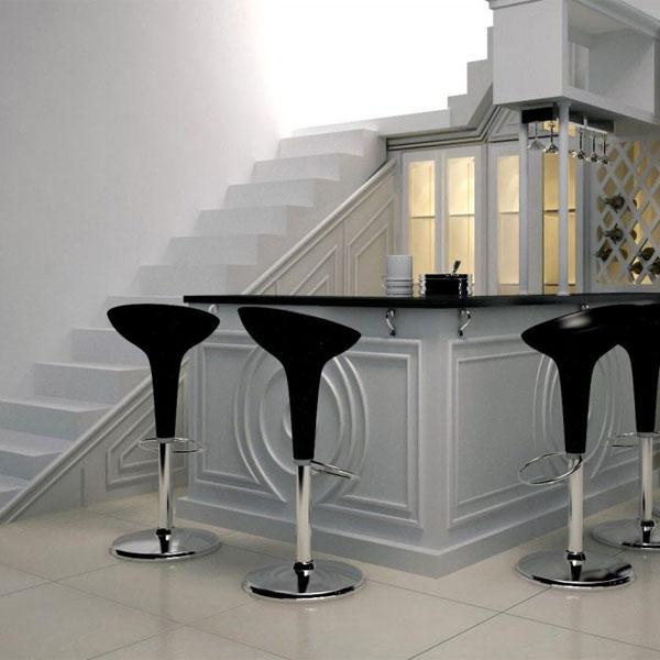 Gầm cầu thang đẹp với quầy bar, tủ rượu nhỏ xinh 3