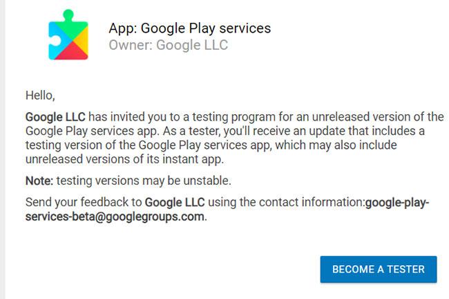Đối với người dùng nâng cao: Cài đặt Google Play Services Beta