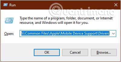 Cách sửa lỗi máy tính không nhận iPhone trong iTunes Gõ lệnh vào cửa sổ lệnh Run rồi nhấn OK