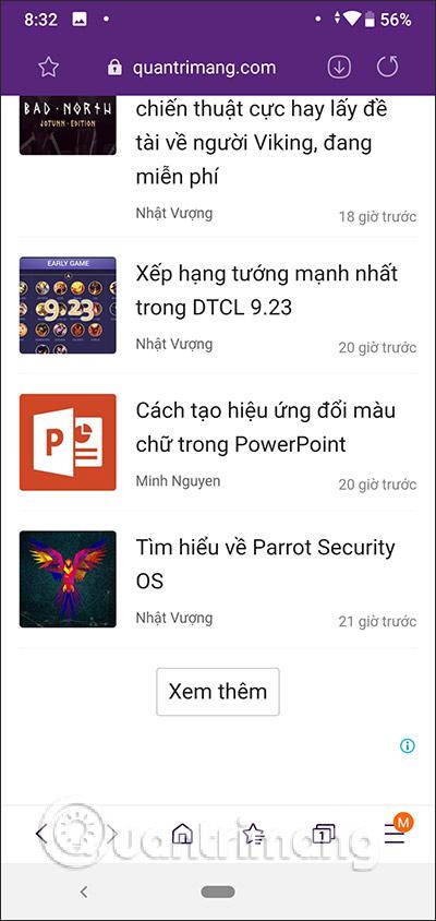 Chặn quảng cáo trên Samsung Internet