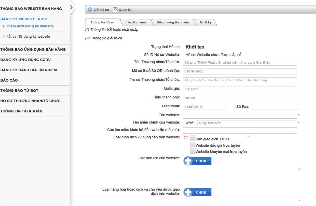 Đăng ký website