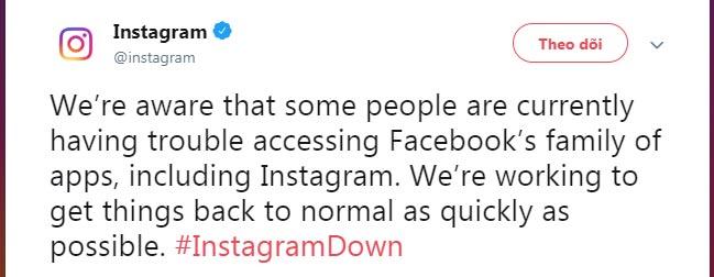 Thông báo của Instagram