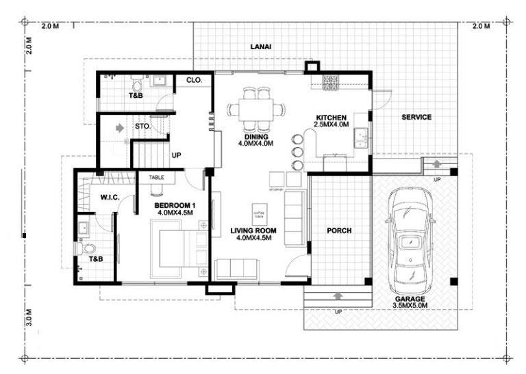 Biệt thự 2 tầng có sân vườn 3
